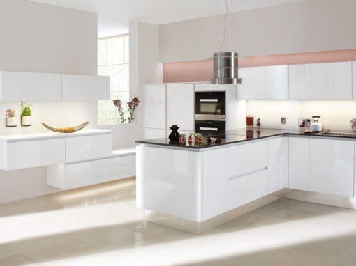 Modèle Smart Blanc Brillant Ambiances Cuisines Aire Sur La Lys