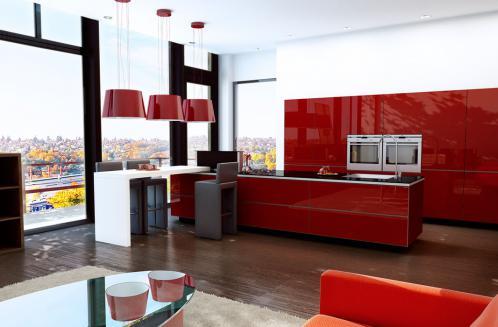 Cuisine Cardamine Acryl Rouge Ambainces Cuisines Aire Sur La Lys